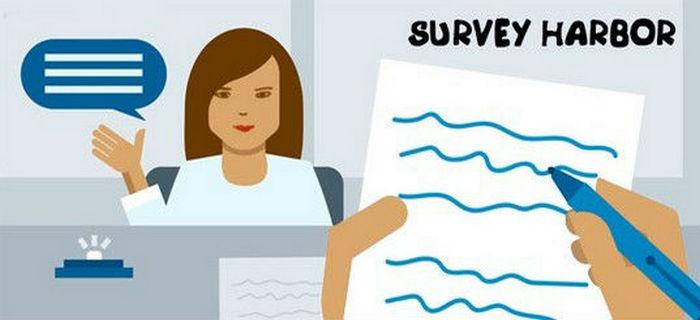 Заработок на сайте опросов Survey Harbor