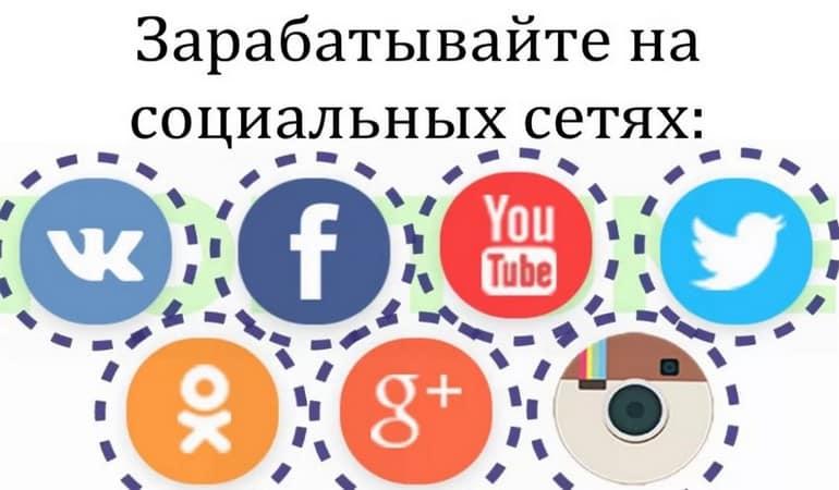 Заработок в интернете при помощи социальных сетей